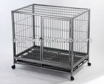 Large Square Tube Dog Crate With Wheels - Buy Dog Crate With Wheels ...