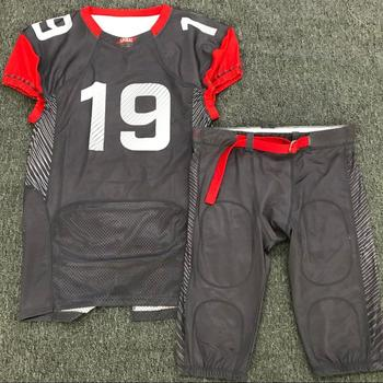 Factory sell cheap small MOQ custom design your own pattern sublimation printing American football jersey uniform
