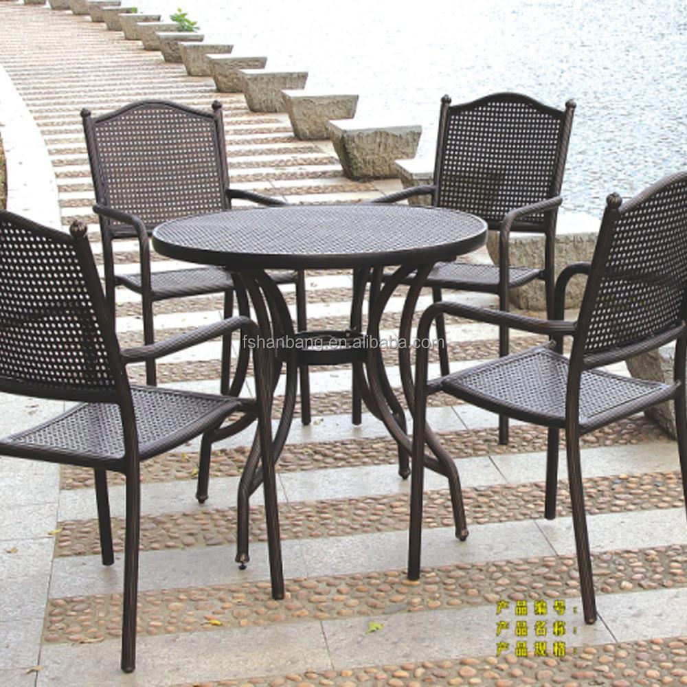 Kopi murah toko besi cor meja dan kursi di luar ruangan for Cast iron outdoor coffee table