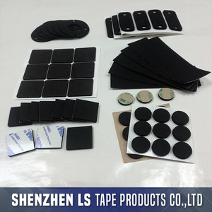 LS Single Or Double Sided Adhesive Black Foam Padding