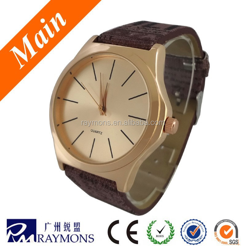 Rose gold plating Japan movt sapphire glass watch