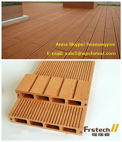 150x25 Hollow Wpc Deck Wood Plastic Composite Board Recycled