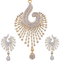 Custom Peacock Shaped Zircon CZ Fashion Jewelry Set