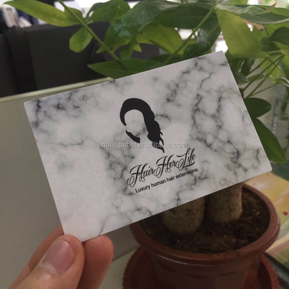 Customized High Quality Hair Extension Business Cards With Marble