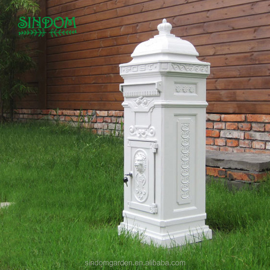 2018 hot sale cast aluminum waterproof mailbox, high quality metal japanese mailbox, mailbox post