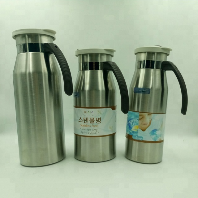 1.5L-2.5L High Quality Single Wall Stainless Steel Coffee Pot With Customized Label
