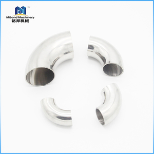Sanitary Stainless Steel 304/316L Butt Weld TC 90 Degree Elbow Pipe Fitting Elbow Bend