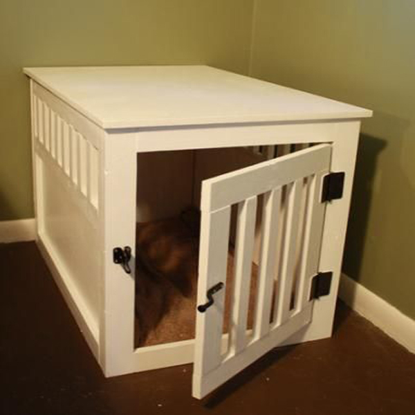 Large Indoor Dog Kennel , Wooden Dog House With Stairs