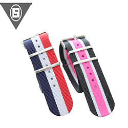 High quality 16 18 20 22 24 26 mm adjustable Polyester strap for watches