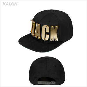 custom fedora plain diy metal plate short brim pokemon snapbacks hats caps