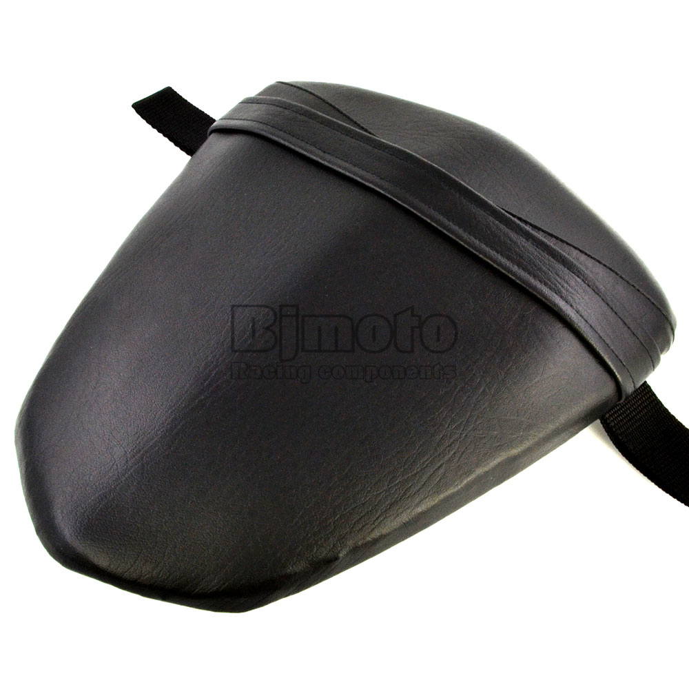Black Seat Cover For Yamaha YZF 1000 R1 2009 2010 2011 Seat Vintage Leather Motorcycle Rear Passenger Seat Cushion Pillion