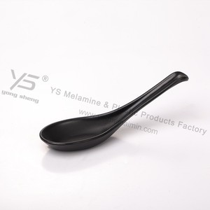 Frosted black plastic Japanese spoon