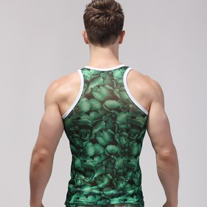 Custom Sublimation Logo Gym Stringer Vest