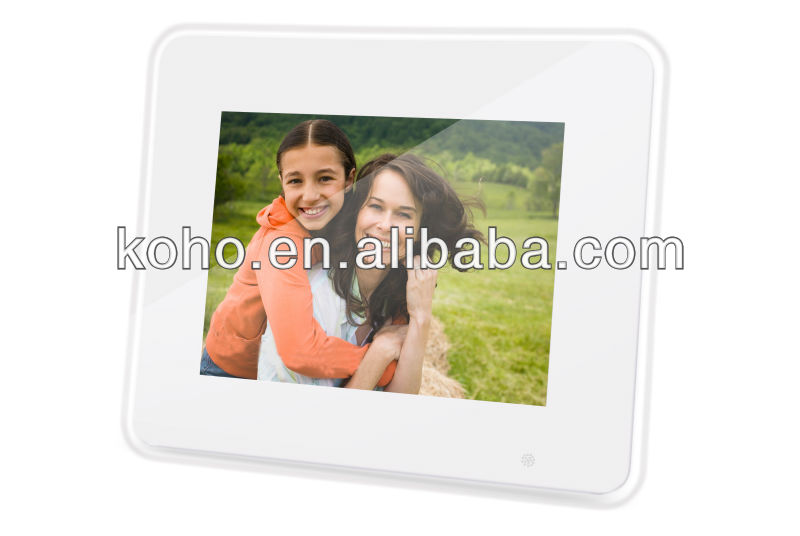 Newest 8inh digital photo frame display with LED light