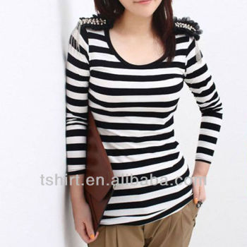 Striped Long Sleeve T Shirt Women S