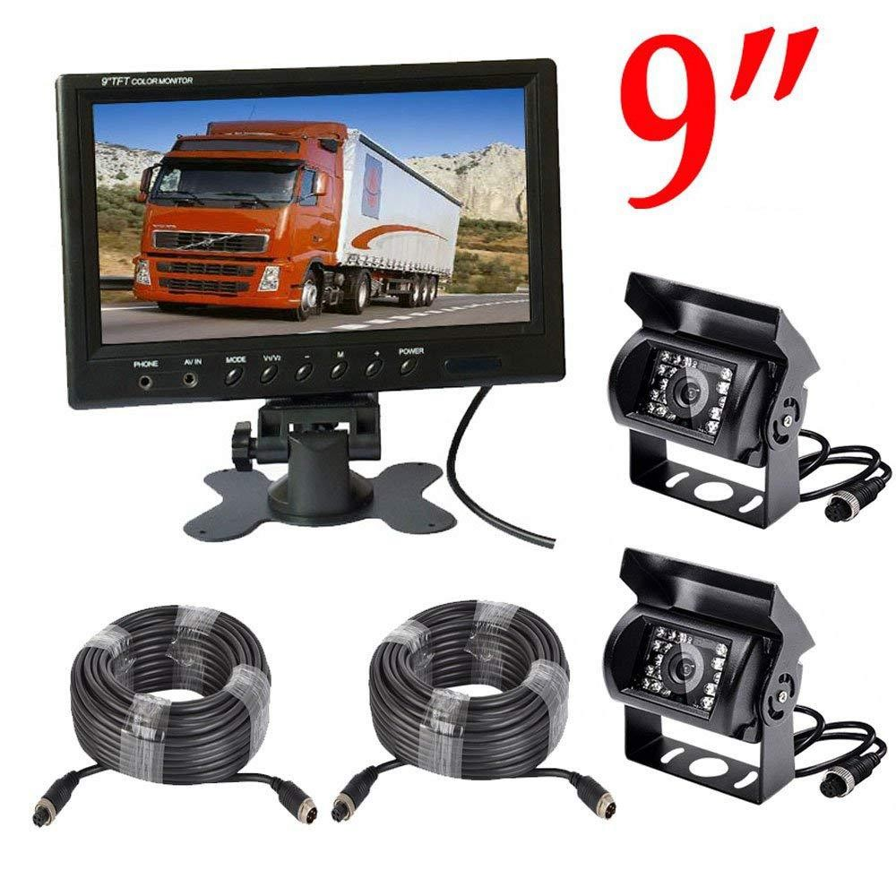 7 inches split 4 Channel rear view monitor high resolution rear view display truck Quad dispaly