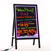 Low price powered glass notice led message writing board