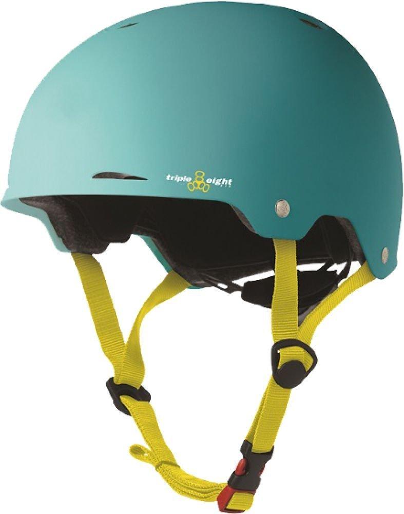 Triple Eight Gotham Helmet Small Medium Baja Teal Rubber Cpsc Astm Skate Helmets