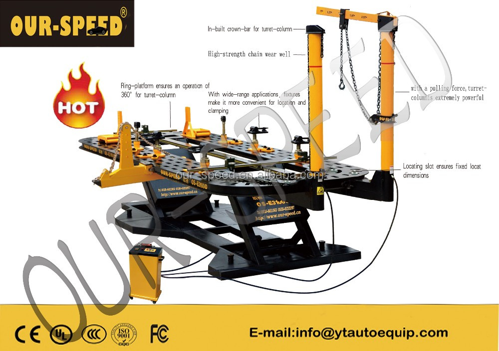 OUR-SPEED Frame Dent Puller and Spotter Car Body Repair Bench OS-HD3100D workshop equipment