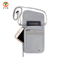 Premium OEM Neck Pouch Passport Travel Wallet With RFID Security Blocking