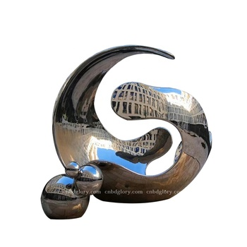 Abstract Design Metal Art Stainless Steel Hollow Sphere