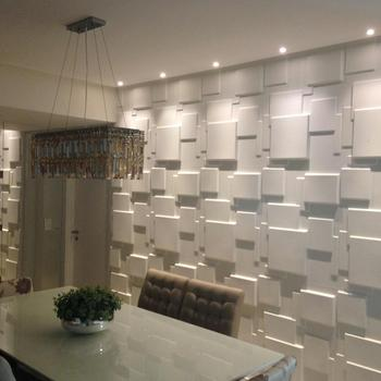 Recycled natural material decorative 3d wall panels for interior office/ restaurant decoration