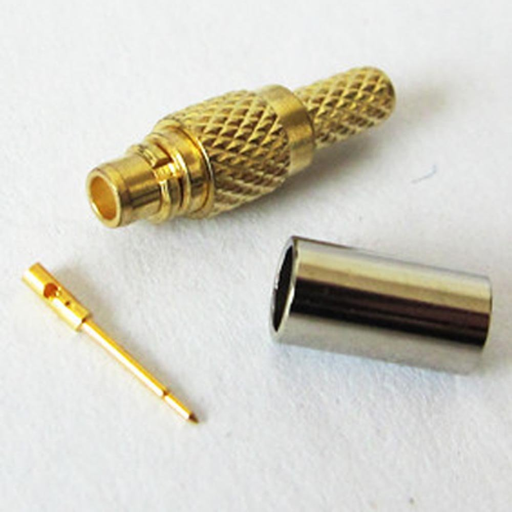 QX Electronic MMCX plug male Crimp RF COAX Connector for RG316 RG179 RG174 straight goldplated