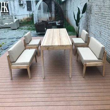 teak wood furniture outdoor patio furniture  garden table and chair tack dining set