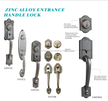 Zinc Alloy Entrance Handle Lock Outdoor or Indoor