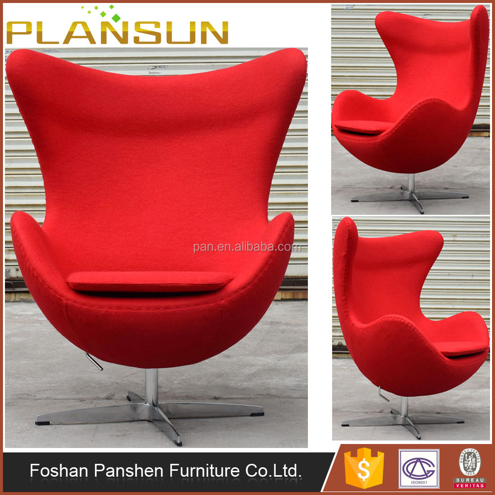 Stylish furniture Four star shaped aluminium base fabric Bolero Egg Arm chair