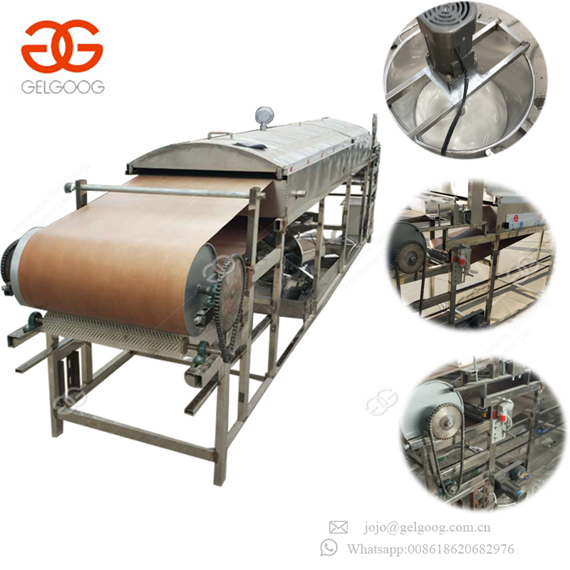 Top Quality Automatic Bean Jelly Sheet Forming Round Liangpi Machine Sweet Potato Starch Sheet Maker