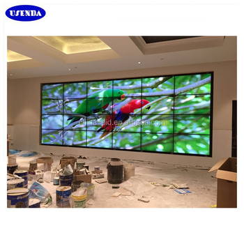 samsung flat screen tv on wall. wall flat 55inch lcd screen tv with samsung lcd splicing advertising video on