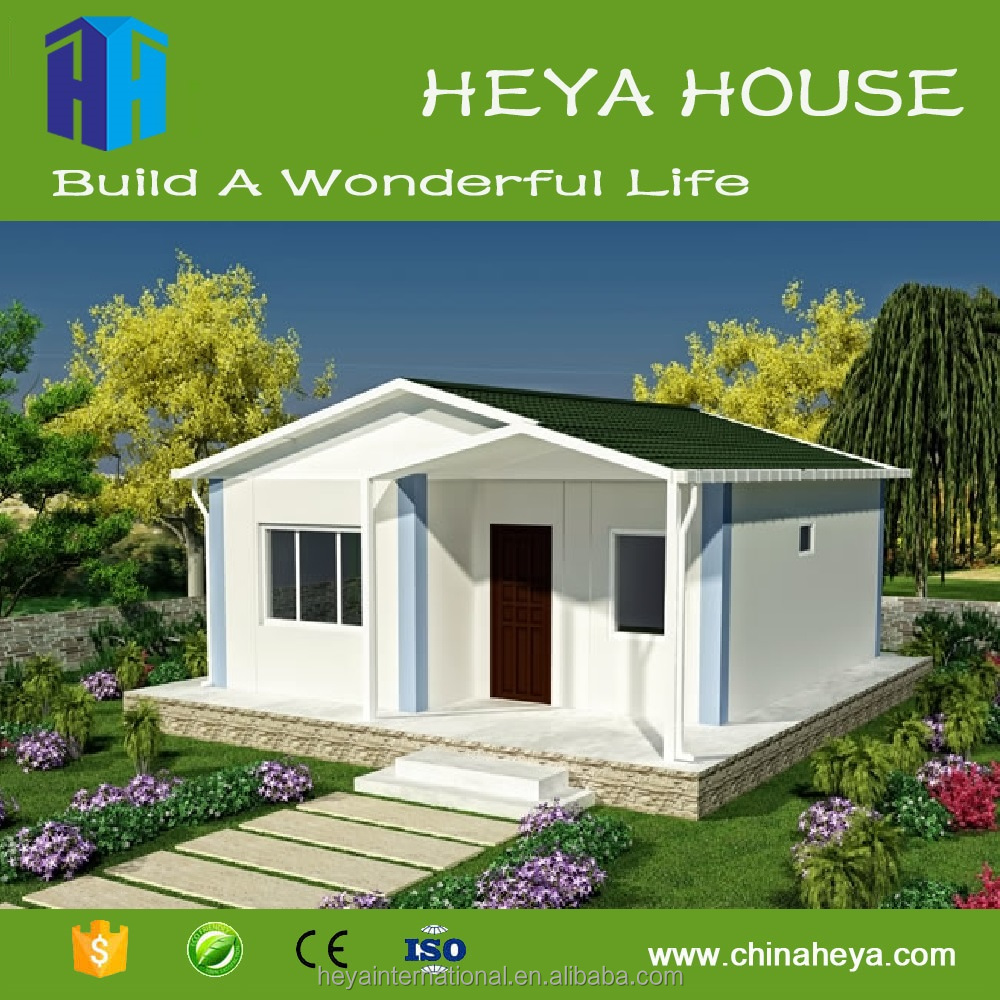 2016 Popular sandwich panel prefabricated tiny house ready made villa for living