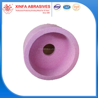 ceramic bond aluminum oxide cup abrasive grinding wheel for metal