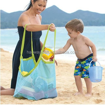 9730edaff3c4 Beach Mesh Bags for Collecting Seashells with Adjustable Over the Shoulder  Carry Strap.