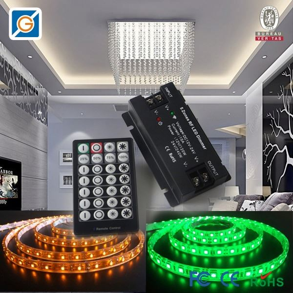 new led product Five RF Channels din rail dali dimmer for led lights