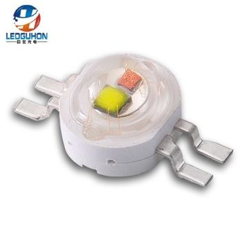 4pins 2w white yellow two color high power led chips