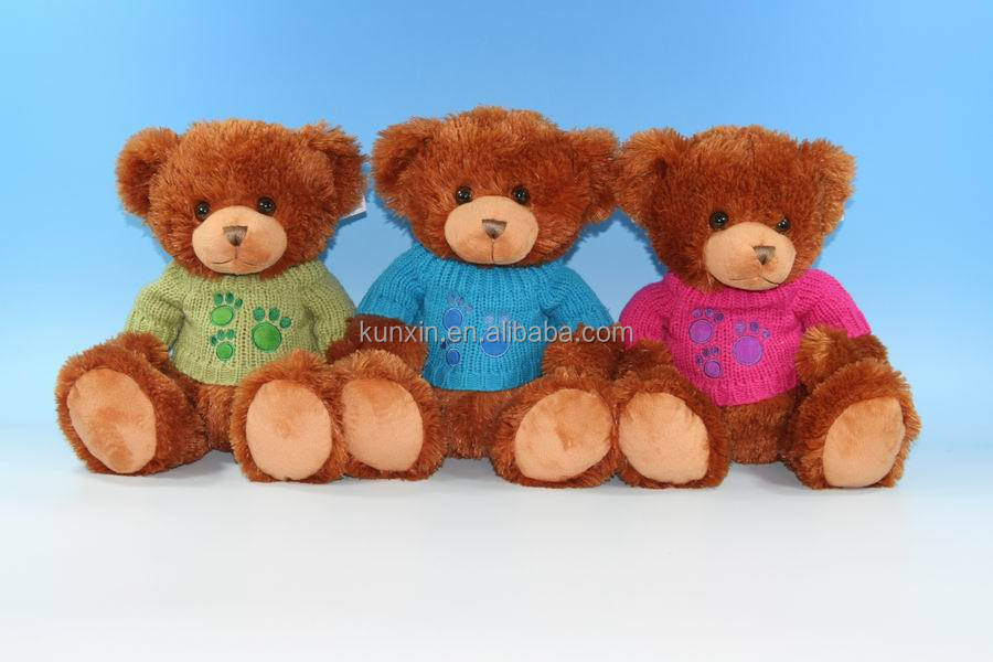 Plush toys teddy bear with sweater