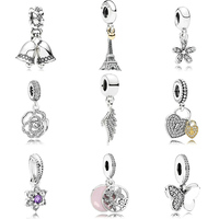 Factory Price charms fit pandoras pendant charm silver 925 diy beaded wholesale