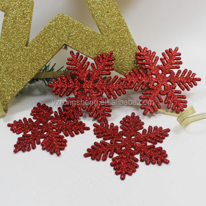 2016 hot sell high quality hanging plastic glitter snowflake