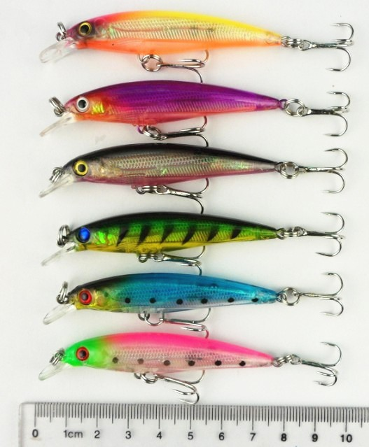 2015 plastic fishing lures hard body bait 3d eyes artificial, Hard Baits
