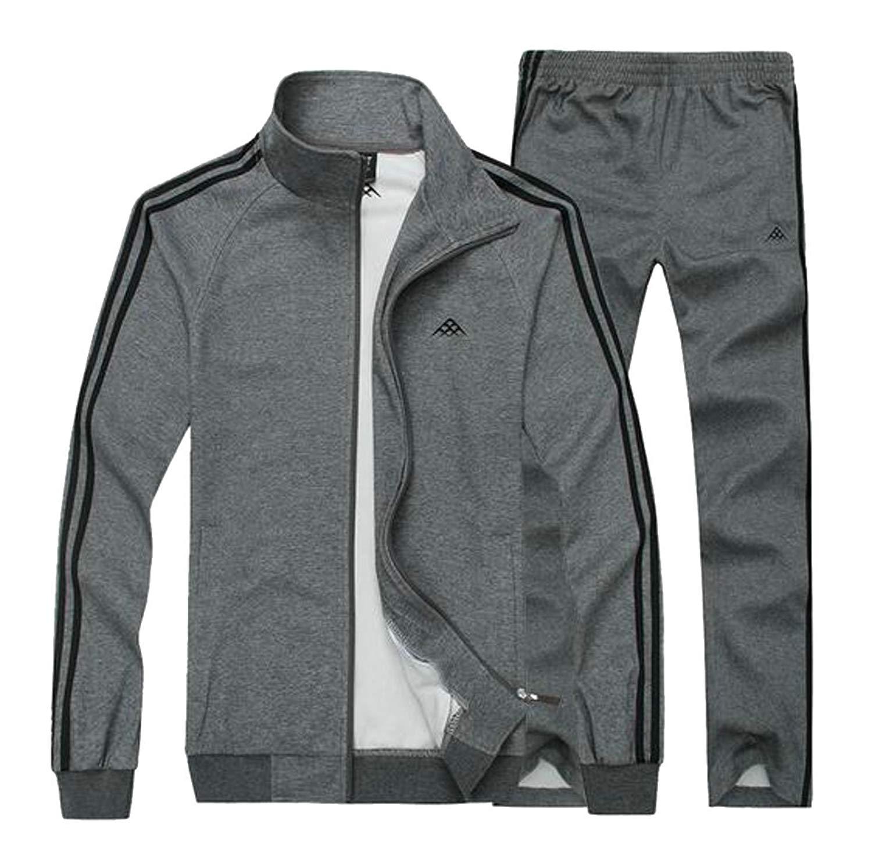 5c65e4780ef0 Get Quotations · ARTFFEL Mens Sweatshirt Jacket Pants Plus Size 2 Piece  Outfits Sweatsuits Tracksuits Set