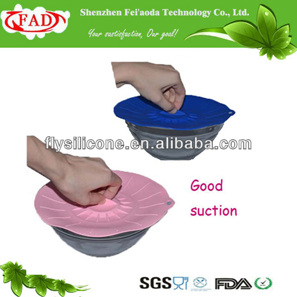 Adjustable good silicone suction lid for bowl