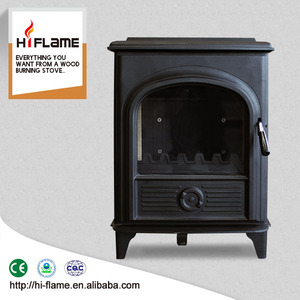 Factory Direct real fire steel stove with oven doors with glass AL905