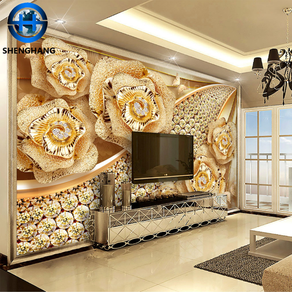 China Pop Design Ceiling 3d Wallpaper Mural Hotelhome Living Room