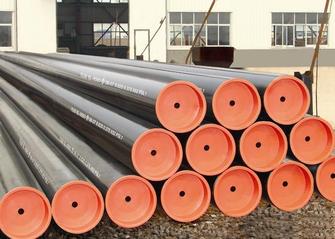 API 5L high quality PSL2 X60 black welded SSAW steel pipe