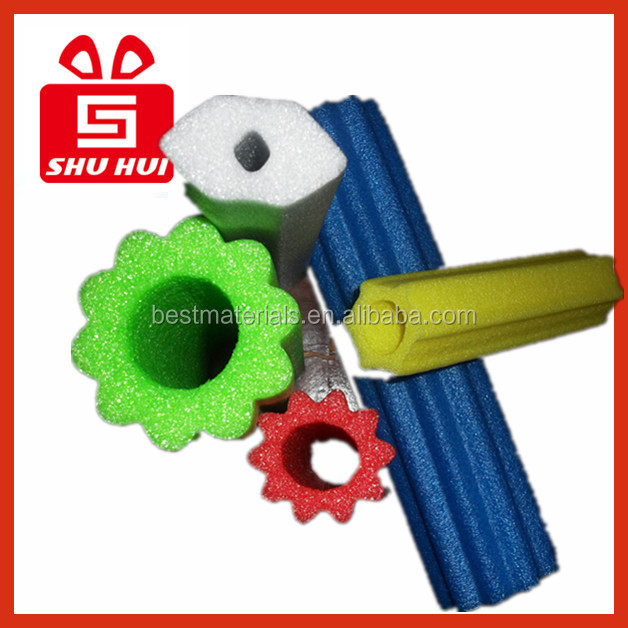 Indoor hand railing epe foam fruit protecting net epe fruit mesh foam end pumper water gun led tube water guns