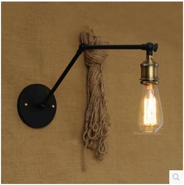 antique long double bras edison applique industrielle minimaliste chevet chambre caf bar. Black Bedroom Furniture Sets. Home Design Ideas