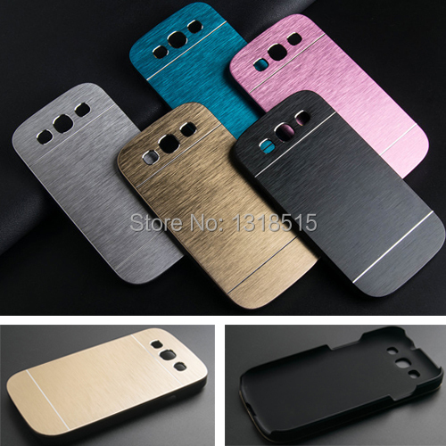 100% authentic 3df3f 15fb5 Luxury Brushed Metal Aluminium material case For Samsung Galaxy S3 i9300  phone case cover