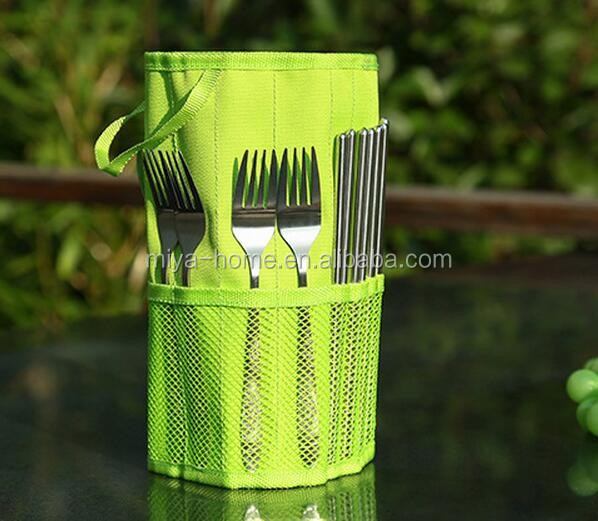 New Design Rolling Up Tableware Storage Bag / Picnic Knives And Forks Organizer Bags